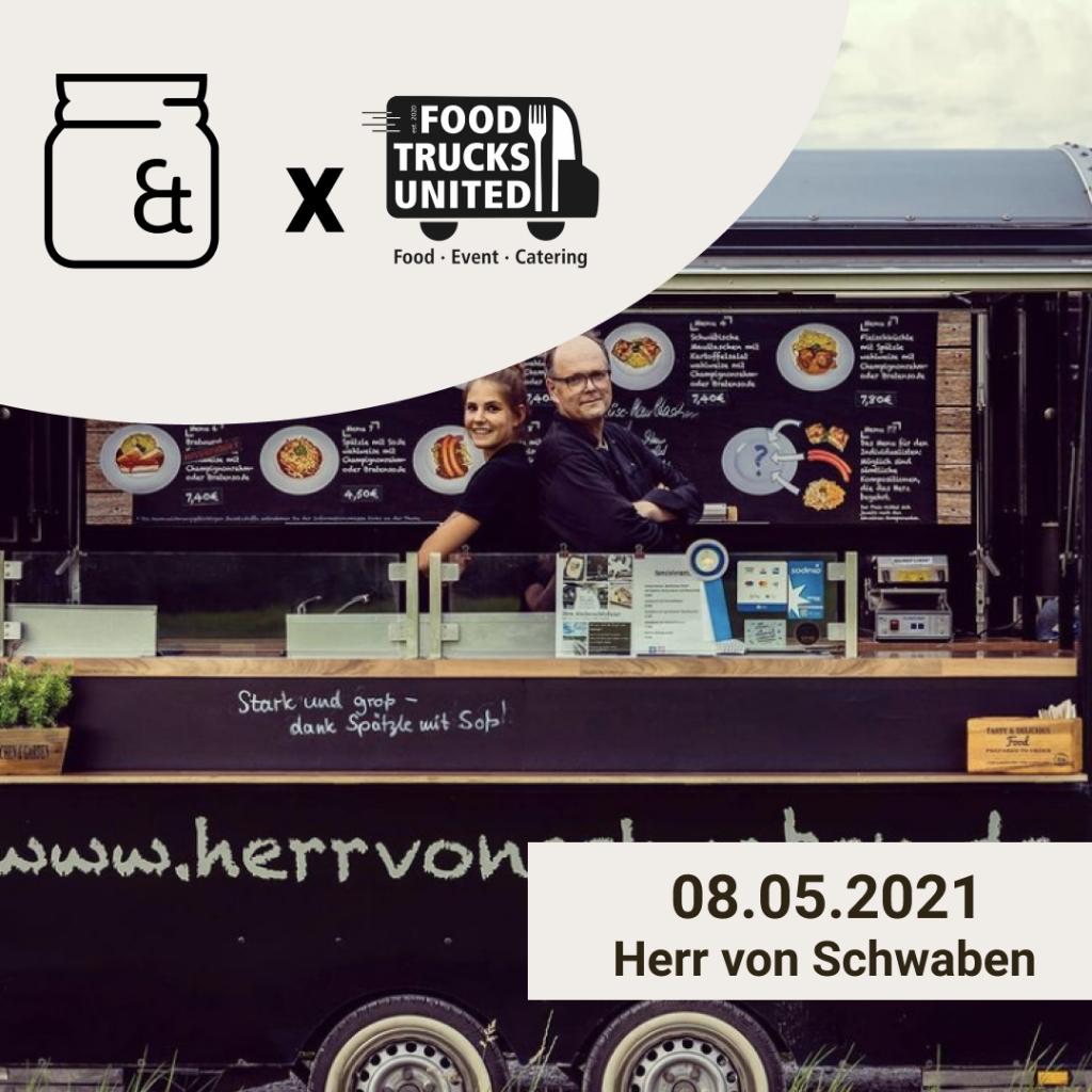 Herr von Schwaben Foodtruck im Mai bei Nebenan & Unverpackt München West eG